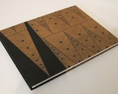Large Art Deco Wedding Guest Book: Black and Tan Guestbook Journal Notebook