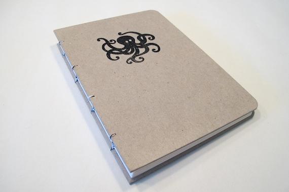 Octopus Handmade Journal Notebook: Hardbound Coptic Book