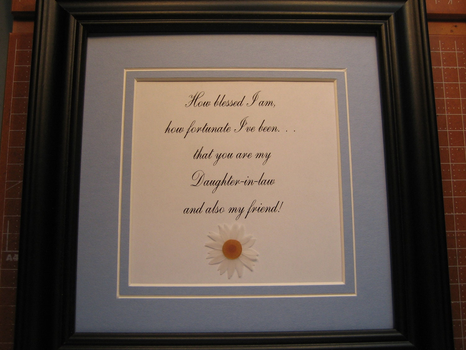 Framed Quote For Daughter In Law 9x9 How By Fivesistersshop