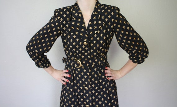 Vintage Equestrian Shirt Dress