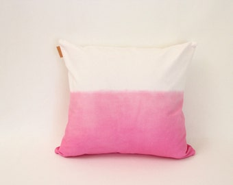 1 pink ombre cushion cover