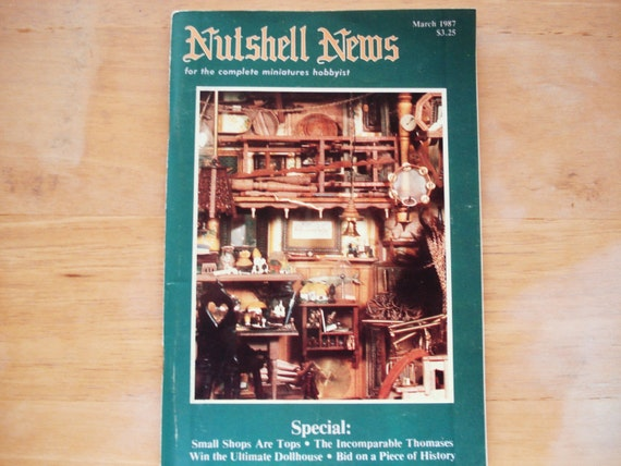 Vintage nutshell news miniatures doll house for House music 1987