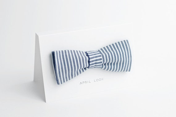 Nautical bow tie - double sided