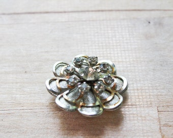 vintage floral pin : brooch bouquet .. wedding gems