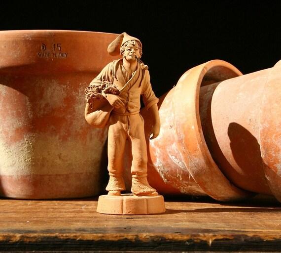 Italian Figurine Terra Cotta Figurine