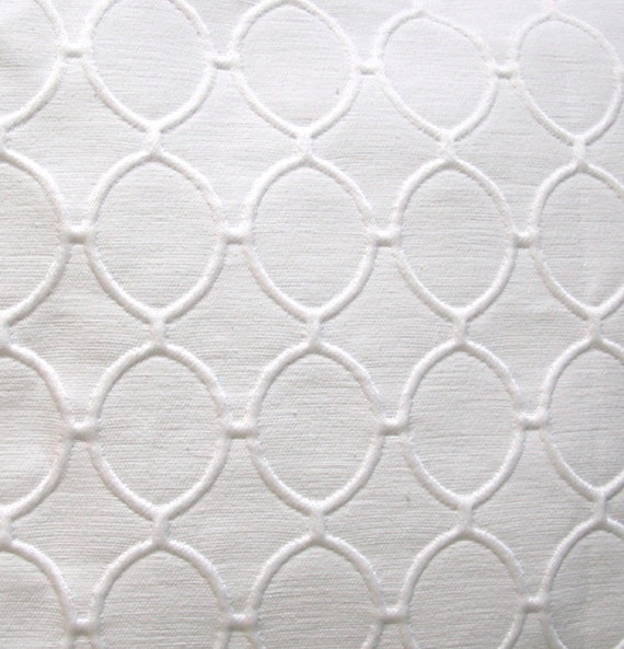 White Pillow Cover Geometric textured 18x18 Contemporary Design available in 16x16 15x15 or 14x14