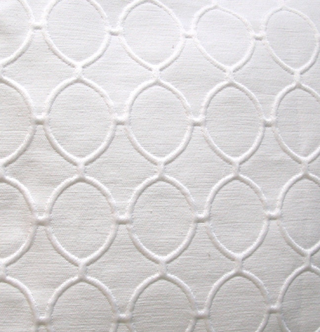 White Pillow Cover Geometric textured 18x18 Contemporary