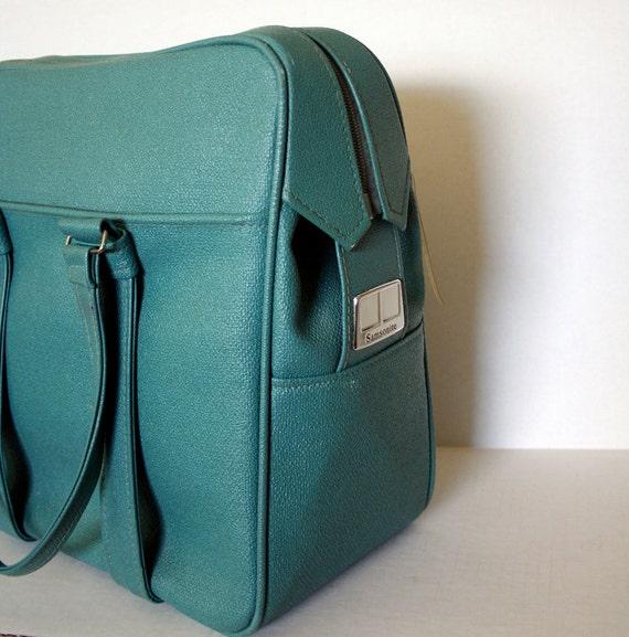 Retro Blue Samsonite Carry On Bag