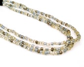 Three Strand Beaded Headband - Snow