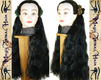 2 HAIR FALLS goth LOLITA braids Cosplay extension Custom color & structure size M 22''/ 55 cm long Tribal Fusion belly dance Anime Larp wig