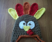 3-6 MonthTurkey Hat - Photo Prop - Thanksgiving