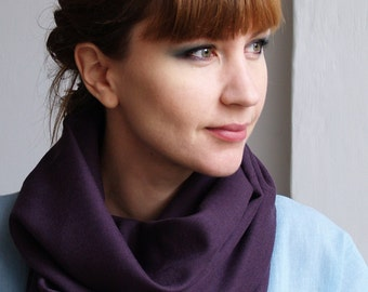 Osaka Heather - Cowl scarf made of Japanese wool