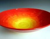 Large sunrise and sunset bowl
