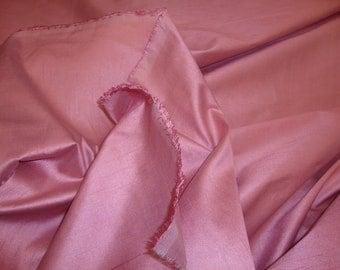 Dusty Rose Shantung Dupioni Faux Silk two tone fabric per yard