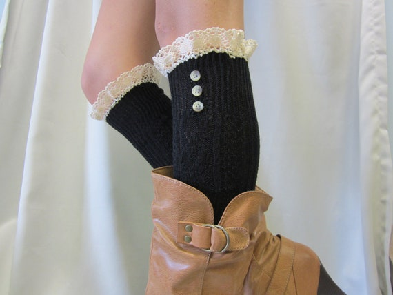 SALE LACE BOOT Socks - Simple and elegant - super soft design at a great price back to school  Catherine Cole Studio
