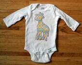 Polka Dot Giraffe Onesie Customized for Boys or Girls