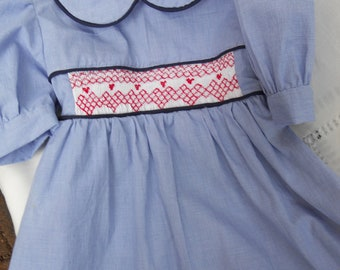 Size 3 Blue and White Gingham Dress