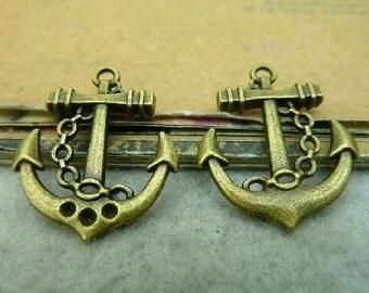 20pcs 20x24mm The Boat Anchor Antique Bronze Retro Pendant Charm For Jewelry Bracelet Necklace Charms Pendants C4273