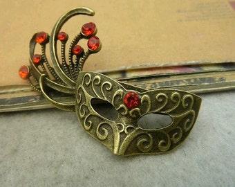2pcs 37x54mm The Mask  Antique Bronze Retro Pendant Charm For Jewelry Bracelet Necklace Charms Pendants C4630