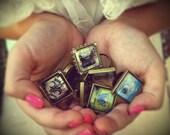 Jewelry Brass Ring Aqua Blue Dandelion Wish