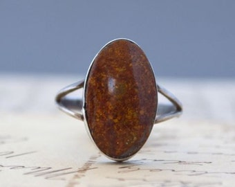 Vintage Agate Ring - Size 7