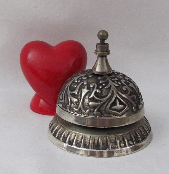 Vintage Ornate Service or Desk Bell - It Has a Nice Ring to It.......Help Needed Please