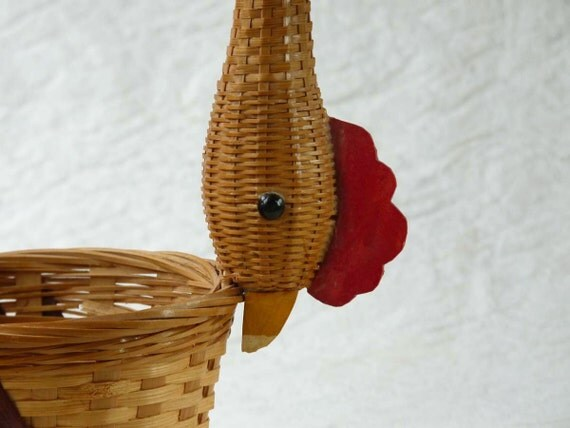 Vintage Chicken Basket, all your eggs in one place
