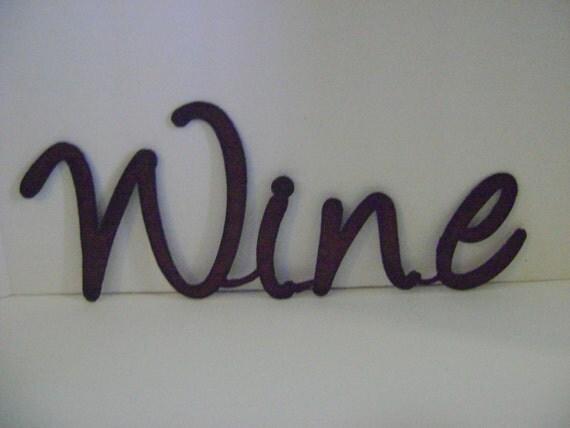 Wall Art Metal Sayings : Wine sign wall art word metal words sayings signs