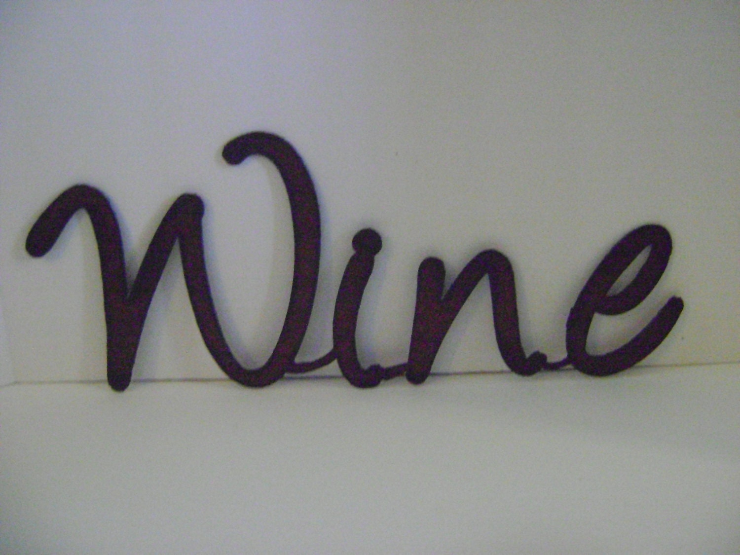 Wine sign wall art word art metal words sayings signs for Word wall art
