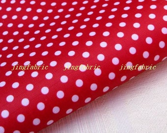 "W223A - Vinyl Waterproof Fabric - polka dot - red   - 27""x19""(70cmX50cm)"