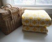 Waterproof Picnic Blanket, Oversized Stumptown Original, Geometric Yellow Squares