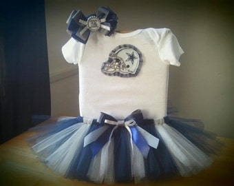 Dallas Cowboys inspired tutu outfit