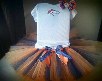 Denver Broncos inspired tutu outfit
