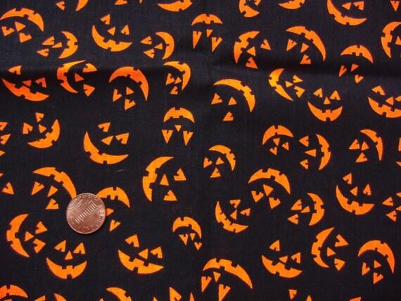 Halloween Print Vintage Fabric Quarter Yard