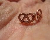 Teeny Tiny Copper Pretzel Earrings - Perfect for Oktoberfest