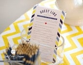Guest Libs for Wedding Bridal or Baby Shower Game - Printable and Personalized
