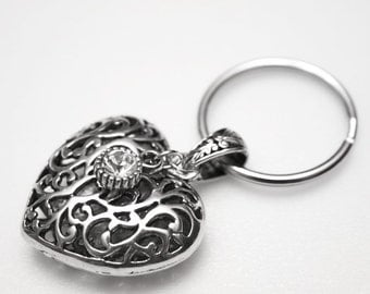 Key Ring - Sparkle Heart