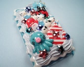 Under The Sea Hello Kitty Mermaid Kawaii Decoden Deco Case For iPod Touch 4