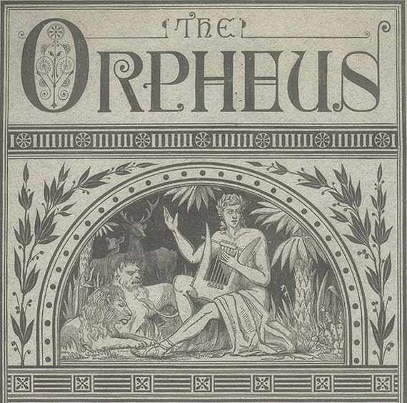 The Orpheus, 1876 Antique Music Magazine , Victorian Parlor Decor Vintage Periodical