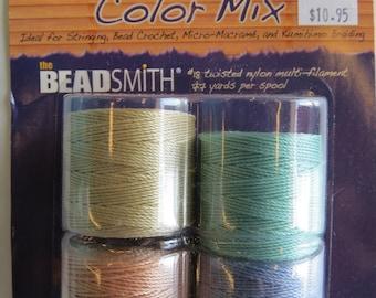 S-Lon Bead Cord Light Color Mix 4 Spools