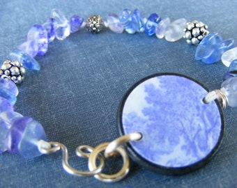 Everyday Blues Bracelet:  Featuring Skye Jewels Tile and Blueberry Quartz Chips