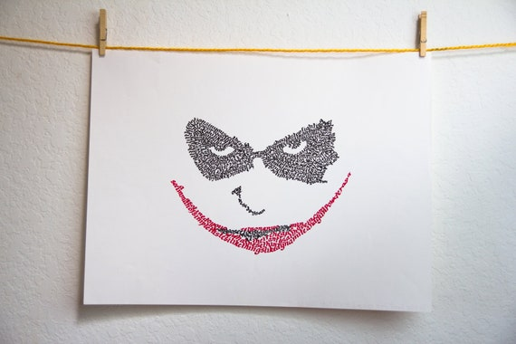 Joker Face in Calligraphy Quotes