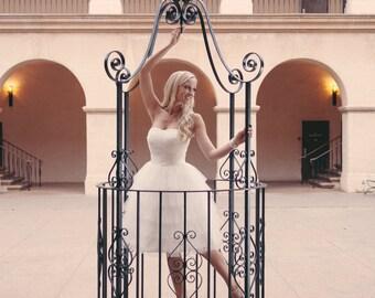Wynnie- Short Wedding Dress, Reception Dress, Beach Wedding, Country Wedding, Garden Wedding