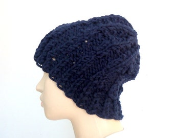 Navy blue Adult hat Beanie