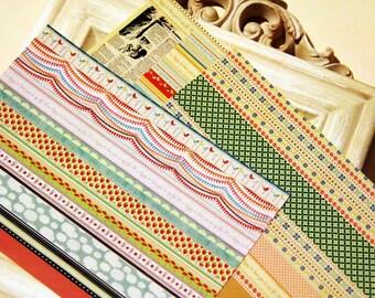 Paper Deco Sticker Set - Rainbow Line Sticker - Ver. 2 - 6 Sheets