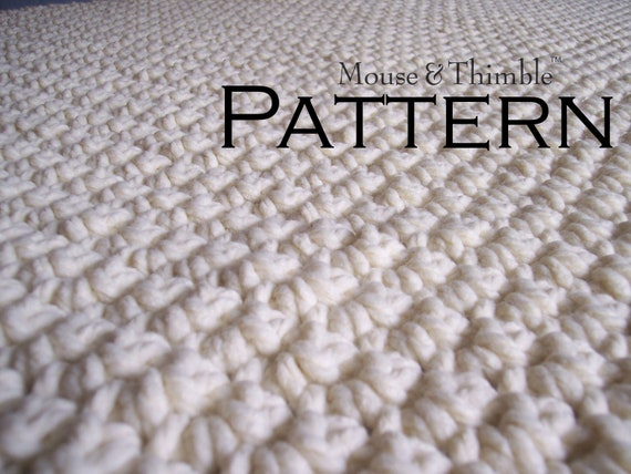 Chunky Long Lap Afghan Throw  Beginner  Crochet PATTERN PDF 102x147  Large Chunky Crochet Blanket For Beginners