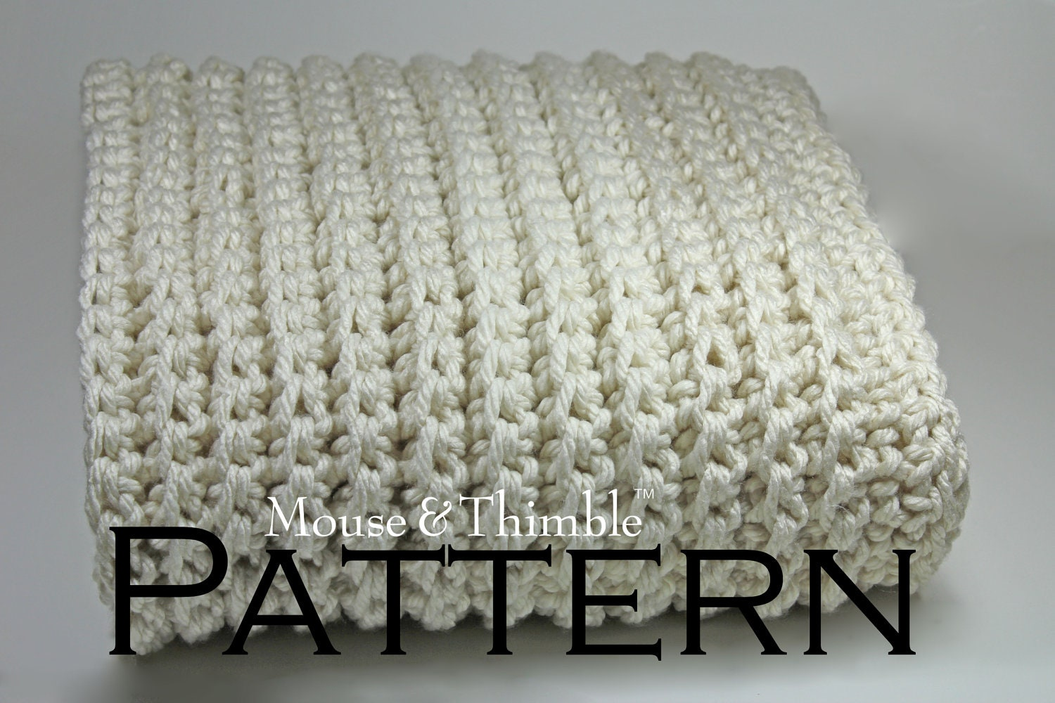 Free Crochet Patterns For A Throw : Chunky Afghan Fisherman Style Sofa Throw Easy by ...
