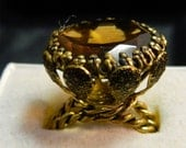 Vintage Ring With Raised Stone From Western Germany