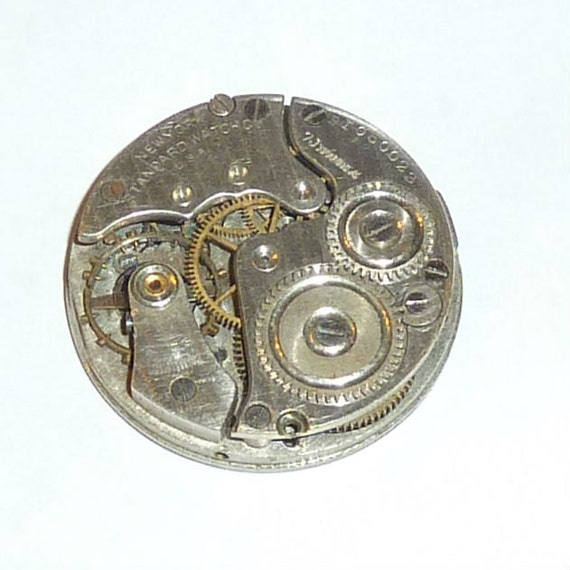 Antique 30mm Jeweled Pocket Watch Dial and Movement