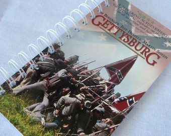 Upcycled Notebook/Recycled Notebook from a Gettysburg VHS box, 50 sheets/100 pages